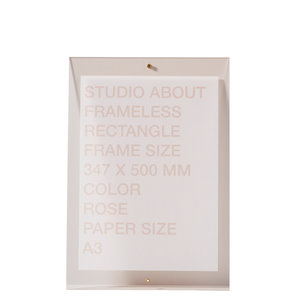Studio About Frame Frameless A3 pink