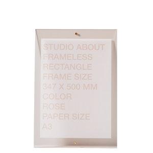 Studio About Lijst Frameless A3 roze