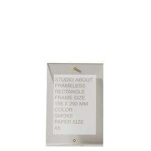 Studio About Frame Frameless rectangle A5 smoke
