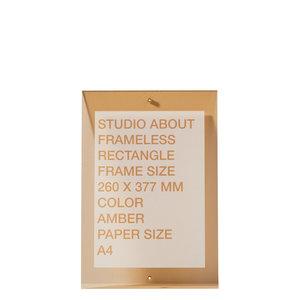 Studio About Frame Frameless A4 amber