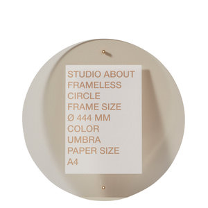 Studio About Frame round A4 umbra
