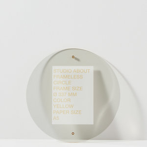 Studio About Studio About Frame round A5 yellow