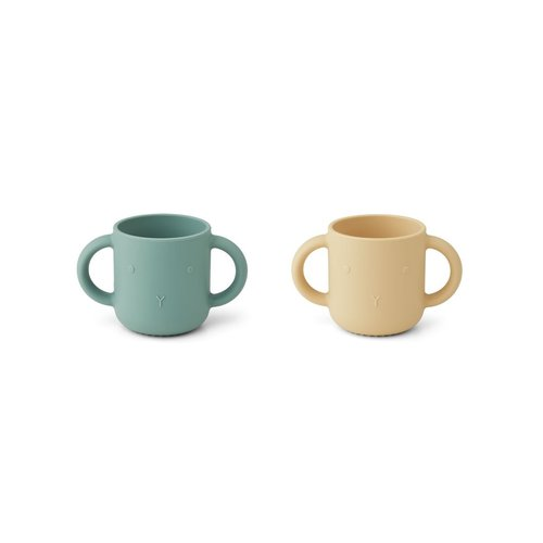 Liewood Gene rabbit cup  yellow peppermint set of 2