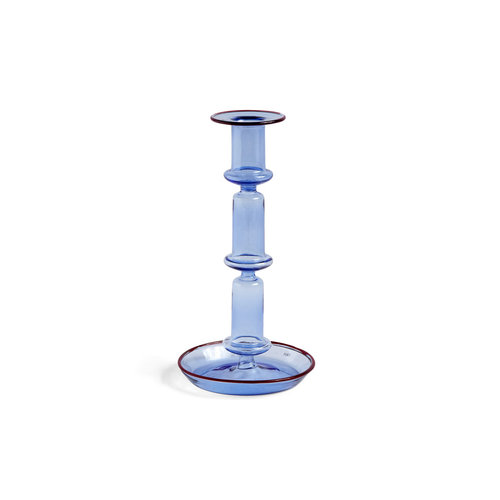 HAY Candleholder Flare tall blue