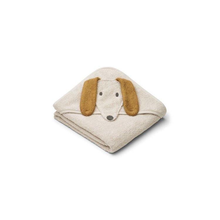 Liewood Liewood Albert Hooded Baby Towel  Dog sandy