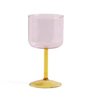 HAY Wine glass Tint set of 2 pink /yellow