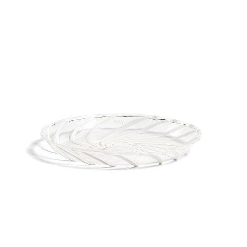 HAY Set 2 Spin schotel helder witte streep