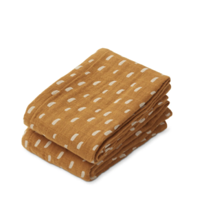 Liewood Muslin cloth Lewis 2-pack graphic  caramel