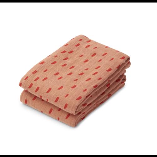 Liewood Hydrofiel doek Lewis 2-pack graphic roze