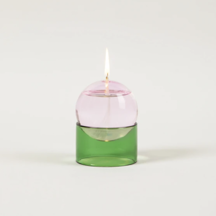 Studio About Studio About oil lamp Oil Bubble low pink-green
