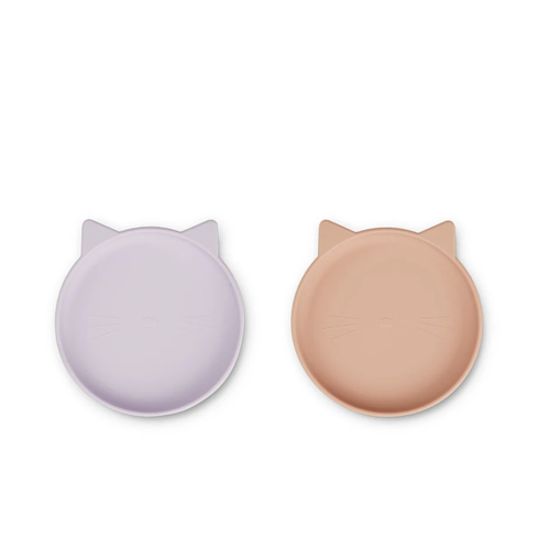 Liewood Bord Olivia 2-pack kat roze lavendel