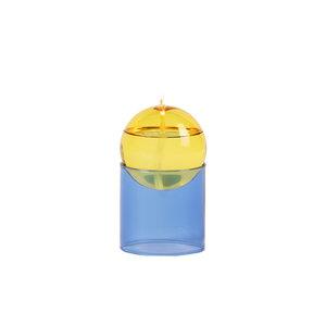 Studio About Olielamp Oil Bubble hoog geel-blauw