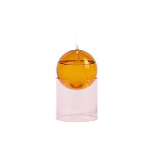 Studio About Olielamp Oil Bubble hoog amber-roze