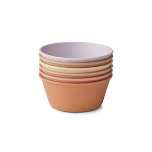 Liewood 6-pack Irene bowls lavendel multi