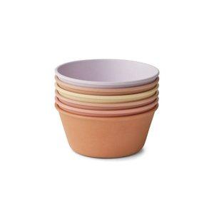 Liewood 6-pack Irene bowls lavender multi