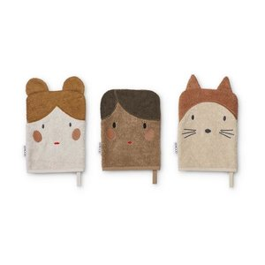 Liewood Sylvester washcloth 3 pack Doll sand