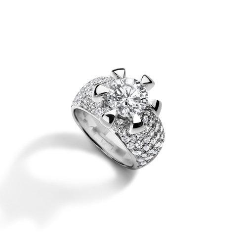 Leon Martens Cento solitair ring in witgoud met briljant geslepen diamant Leon Martens Juwelier