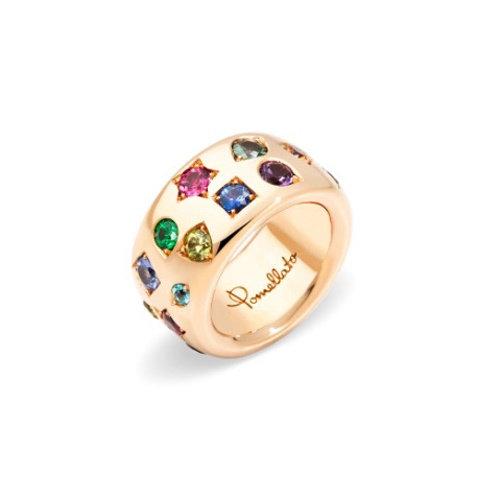 Pomellato Iconica ring in roségoud met gekleurde edelstenen Leon Martens Juwelier