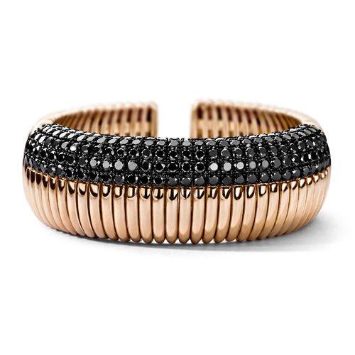 Leon Martens Armband in 18 karaat roségoud met zwarte diamant Leon Martens Juwelier