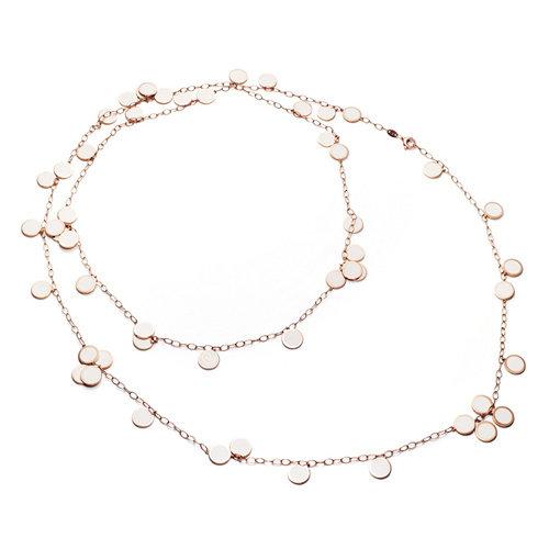 Chantecler Paillette collier in roségoud, wit geëmailleerd Leon Martens Juwelier