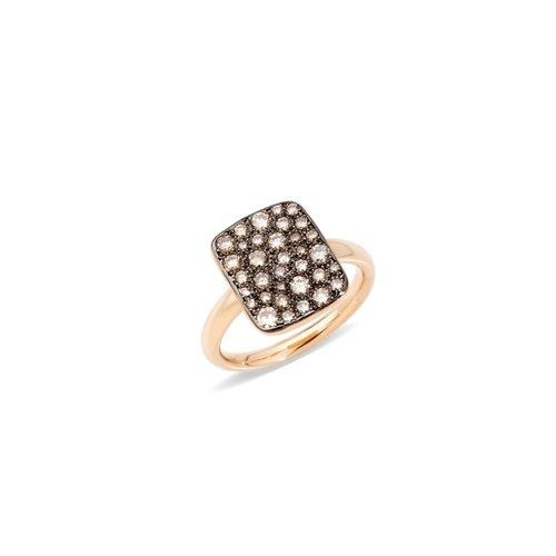 Pomellato Sabbia ring in roségoud met bruine diamant Leon Martens Juwelier