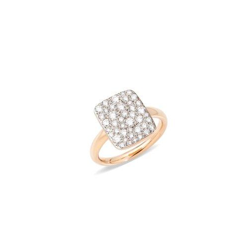 Pomellato Sabbia ring in 18 karaat roségoud met diamant Leon Martens Juwelier