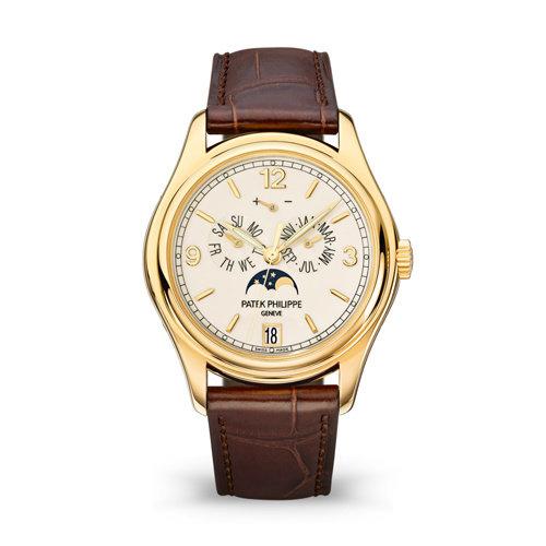 Patek Philippe Annual Calendar horloge in 18 karaat geelgoud Leon Martens Juwelier