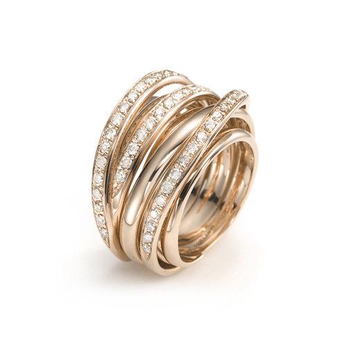 Mattioli Tibet ring in roségoud met diamant Leon Martens Juwelier