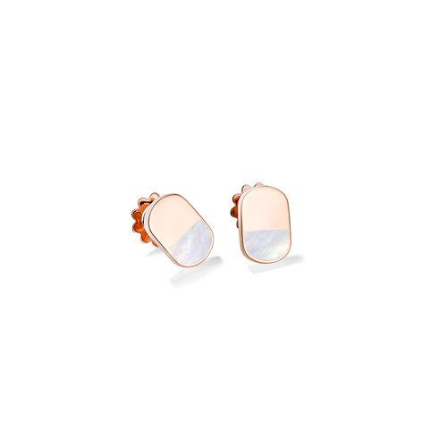 Mattioli Aruba oorstekers in roségoud met parelmoer Leon Martens Juwelier