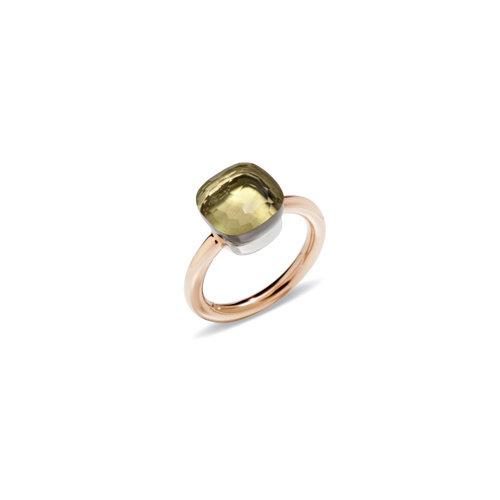 Pomellato Nudo Classic ring in rosé- en witgoud met lemonkwarts Leon Martens Juwelier