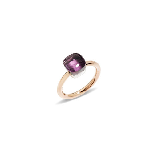 Pomellato Nudo Petit ring in rosé- en witgoud met amethist Leon Martens Juwelier