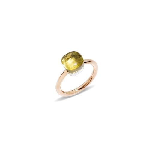Pomellato Nudo Petit ring in rosé- en witgoud met lemonkwarts Leon Martens Juwelier