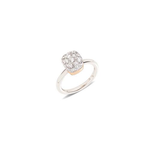 Pomellato Nudo Solitaire ring in wit- en roségoud met diamant Leon Martens Juwelier