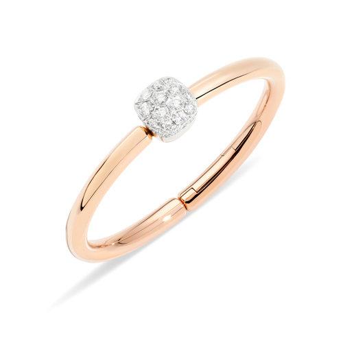 Pomellato Nudo armband in rosé- en witgoud met diamant Leon Martens Juwelier