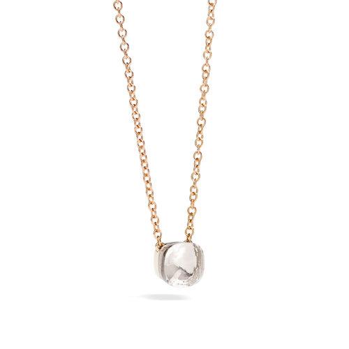 Pomellato Nudo collier in rosé- en witgoud met witte topaas Leon Martens Juwelier