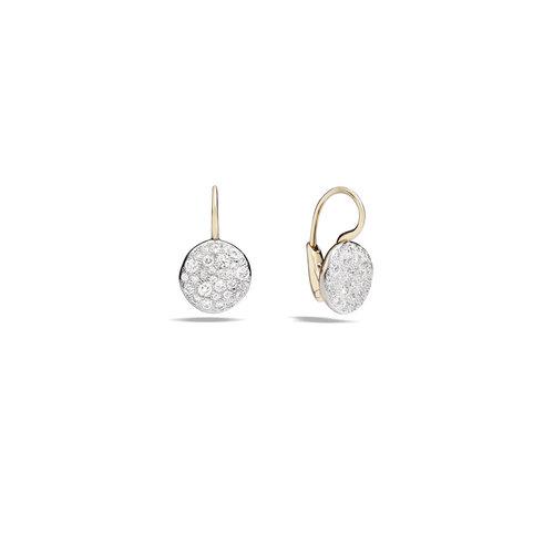Pomellato Sabbia oorhangers in roségoud met diamant Leon Martens Juwelier