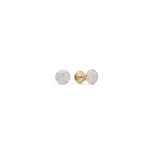 Pomellato Sabbia oorstekers in roségoud met diamant Leon Martens Juwelier