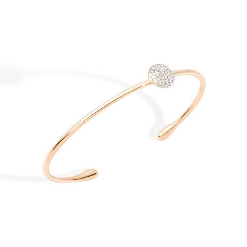 Pomellato Sabbia armband in roségoud met diamant Leon Martens Juwelier