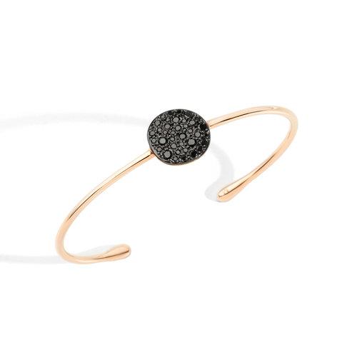 Pomellato Sabbia armband in roségoud met zwarte diamant Leon Martens Juwelier