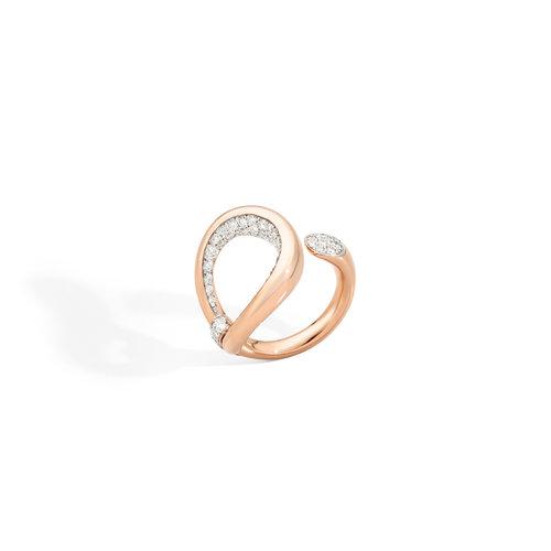 Pomellato Fantina ring in roségoud met diamant Leon Martens Juwelier