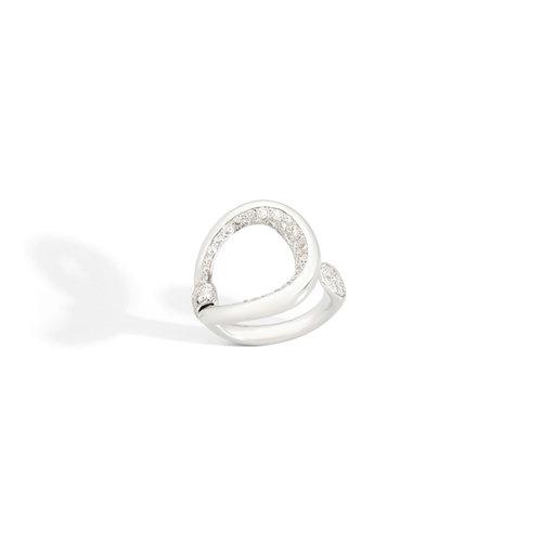 Pomellato Fantina ring in witgoud met diamant Leon Martens Juwelier