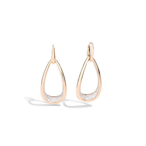 Pomellato Fantina oorhangers in roségoud met diamant Leon Martens Juwelier