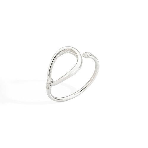 Pomellato Fantina armband in witgoud met diamant Leon Martens Juwelier