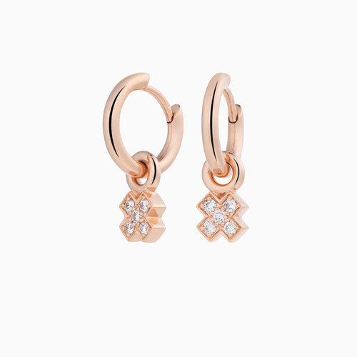 Bron Joy oorhangers in roségoud met diamant Leon Martens Juwelier