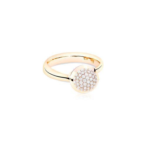 Tamara Comolli Bouton ring in roségoud met diamant Leon Martens Juwelier