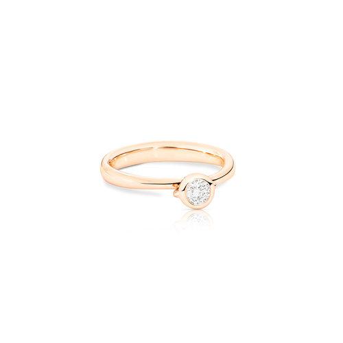 Tamara Comolli Bouton solitair ring in roségoud met diamant Leon Martens Juwelier