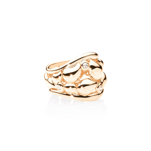 Tamara Comolli Signature Lace ring in roségoud met diamant Leon Martens Juwelier
