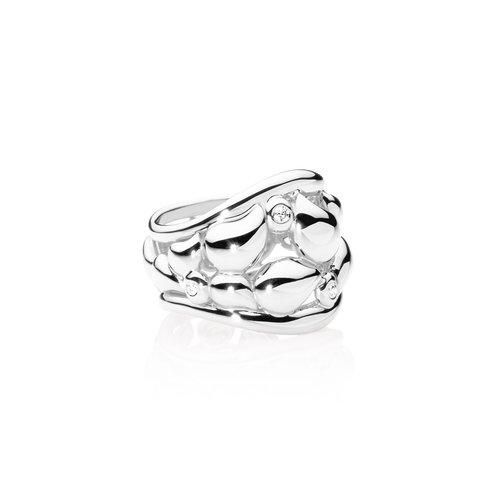 Tamara Comolli Signature Lace ring in witgoud met diamant Leon Martens Juwelier