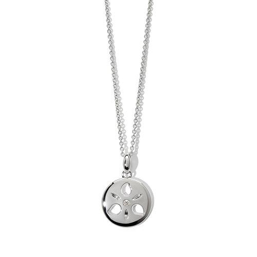 Tamara Comolli Sand Dollar hanger in witgoud met diamant Leon Martens Juwelier