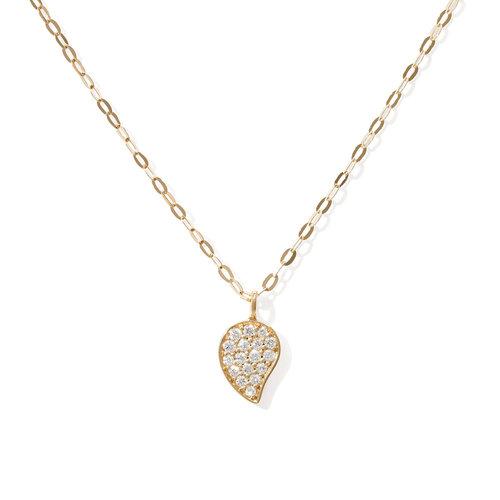 Tamara Comolli Sparkle collier met hanger in geelgoud met diamant Leon Martens Juwelier